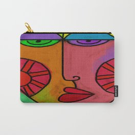 Colorful Abstract Digital Painting of a Face Carry-All Pouch