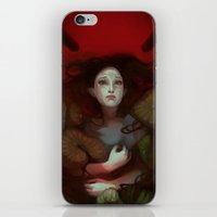 dragon age iPhone & iPod Skins featuring Dragon Age: Blood Lotus by mureh