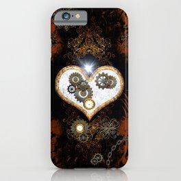 Steampunk, beautiful heart iPhone Case