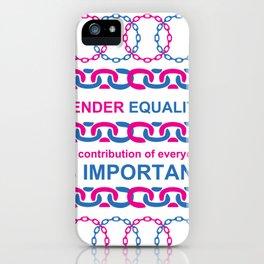 Gender Equality_01 by Victoria Deregus iPhone Case