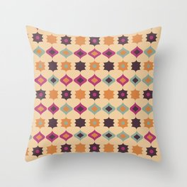 Seamless retro pattern geometrical vector texture background Throw Pillow