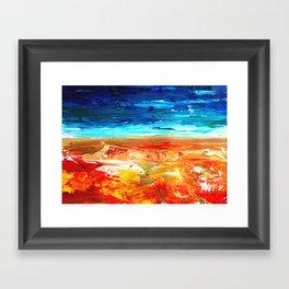 Sand Water Sea Framed Art Print