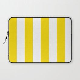 Classic Cabana Stripe in Lemon Yellow + White Laptop Sleeve