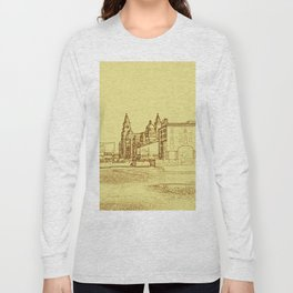 Albert Dock, Liverpool (Digital Art) Long Sleeve T-shirt