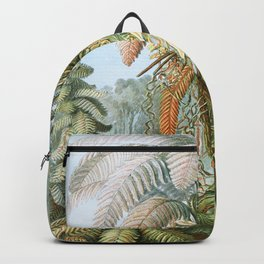 Vintage Fern and Palm Tree Art - Haeckel, 1904 Backpack