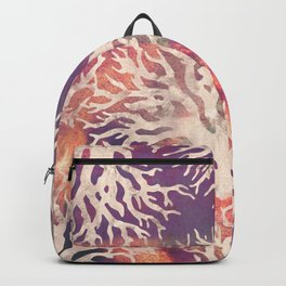 Abstract corals pattern Backpack