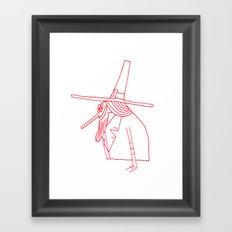 Happy Pilgrim Framed Art Print