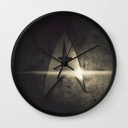 spacecraft logo Wall Clock