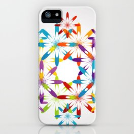 A large Colorful Christmas snowflake pattern- holiday season gifts- Happy new year gifts iPhone Case