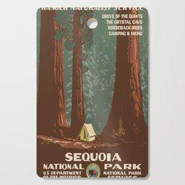 Vintage poster - Sequoia National ParkX Cutting Board