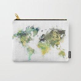 world map 88 art green Carry-All Pouch