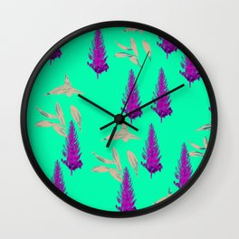 Trees and Leaves Wall Clock