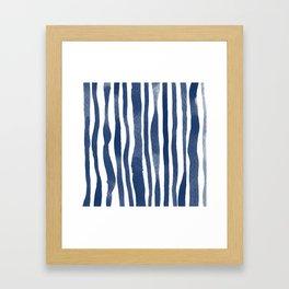 WATERCOLOUR STRIPES Framed Art Print