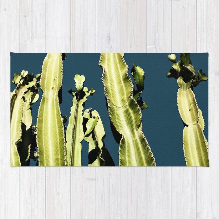 Cactus - blue Rug