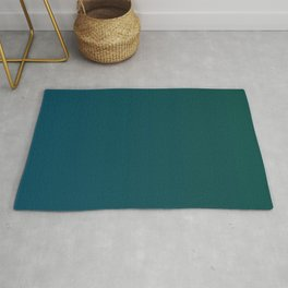 Dark green and blue gradient, Ombre. Rug