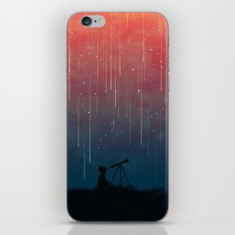 Meteor rain iPhone Skin
