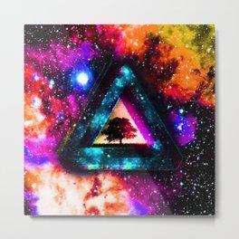 Zelda Triforce Triangle Nebula Metal Print