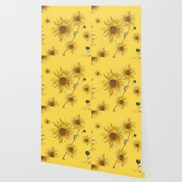 Sunflower Pattern 4 Wallpaper