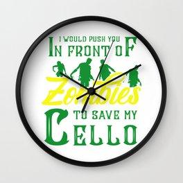 None Violoncello Cellist Player Jazz Wall Clock