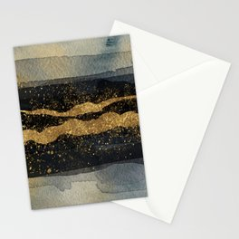 GOLD VEIN Abstract Watercolor Art Nr. 2 Stationery Cards