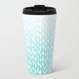 Hand Knitted Ombre Teal Travel Mug