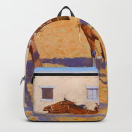 Frederic Remington - His First Leson - Digital Remastered Edition Backpack