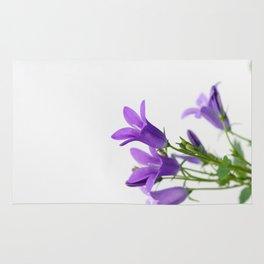 PURPLE FLOWERS - Bellflowers #1 #decor #art #society6 Rug
