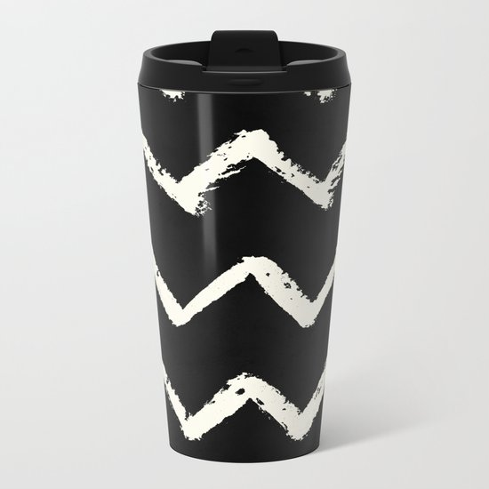 Tribal Chevron Stripes Metal Travel Mug