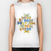 bows Biker Tanks featuring More Bows & Butterflies by Romina M.