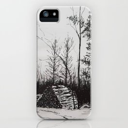 Winter Woodlot iPhone Case