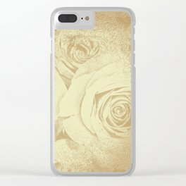 Roses in vintage style with texture Clear iPhone Case