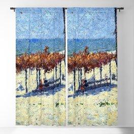 Classical Masterpiece 'Newport, RI - Beach Scene'' by Frederick Childe Hassam Blackout Curtain
