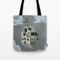 flight Tote Bags featuring FLIGHT by NOA ALON ART