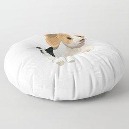Beagle Art, beagle puppy, digital painting Floor Pillow