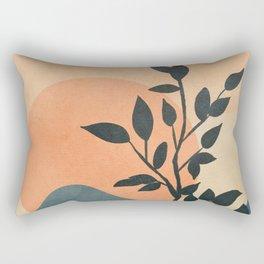 Orange Rising Sun Rectangular Pillow