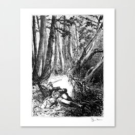Murder in the Pines Canvas Print