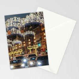 Light decorations on Nevsky Prospect. Stationery Cards
