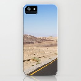 Road through the desert of Death Valley National Park iPhone Case