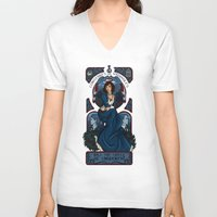 bioshock infinite V-neck T-shirts featuring Infinite Nouveau by Miss-Lys
