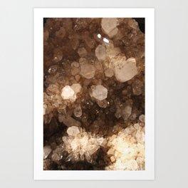 Quartz Crystals Art Print