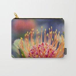 Tropical Sunburst - Leucospermum Pincushion Protea Flower Carry-All Pouch