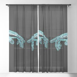 Electromagnetic Inception Sheer Curtain