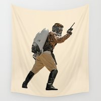 star lord Wall Tapestries featuring Rocket-Lord by Parissis