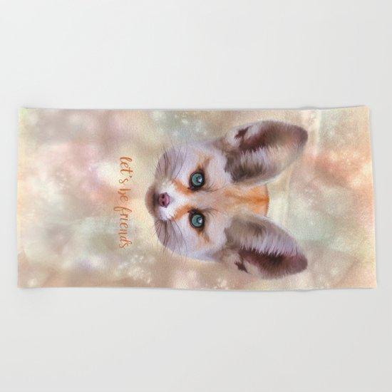 Fennec Fox Beach Towel