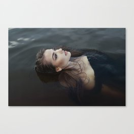 Girl in the water Canvas Print