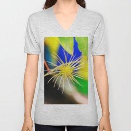 Clematis bloom is gone Unisex V-Neck