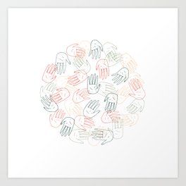 Hands On Art Print