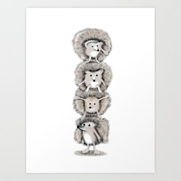 Hedgehog Totem Art Print