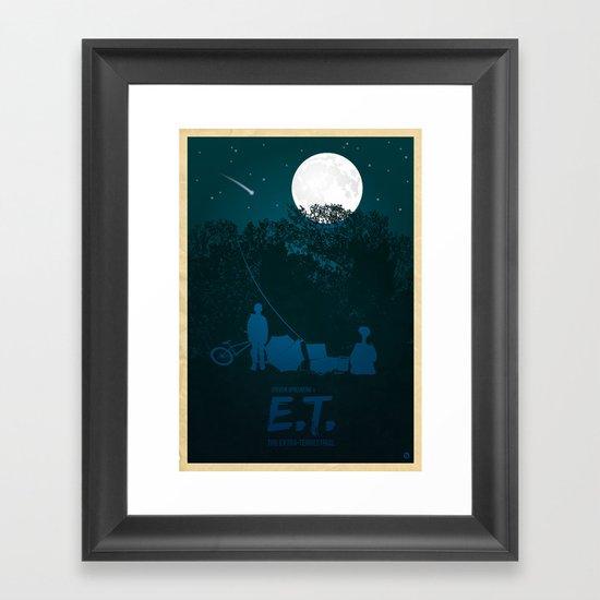 STEVEN SPIELBERG'S E.T. Framed Art Print
