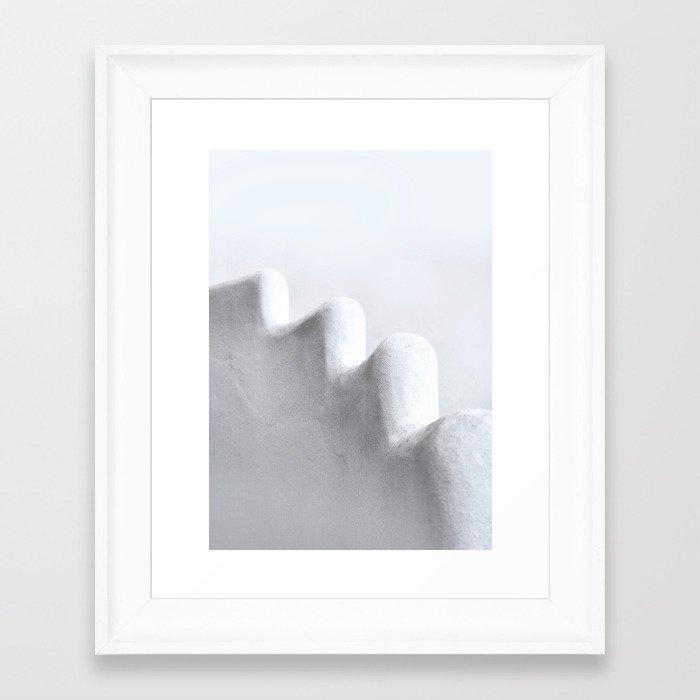 White and Minimal Framed Art Print
